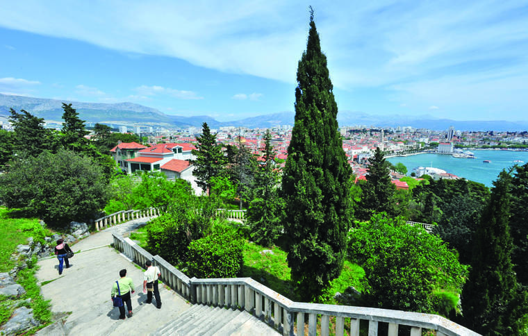 Panorama of Split from Marjan Forest Park