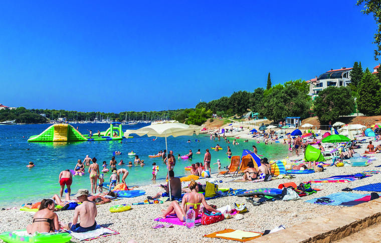 Beach in pula