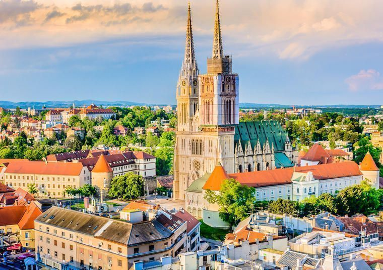 Zagreb, the capital, in Continental Croatia
