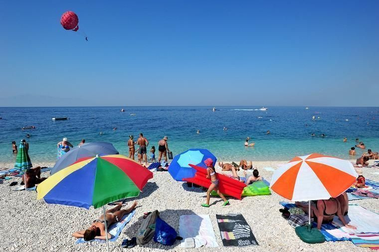 Beach in Baska Voda